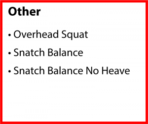 Other Exercises for Improving the Snatch