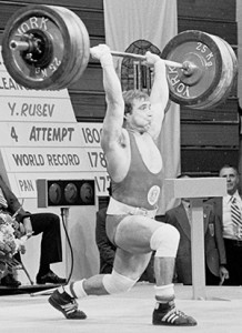 anko Rusev (Bulgaria) performs the Clean & Jerk