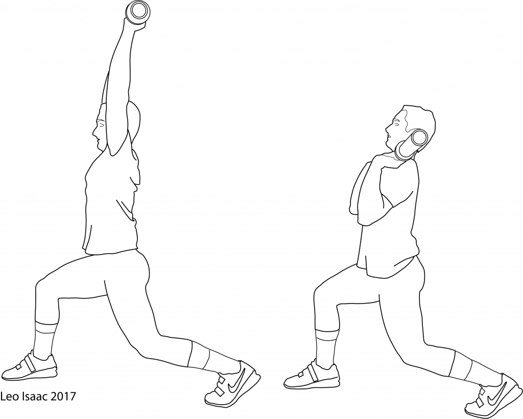 The Jerk Balance Exercise illustrated