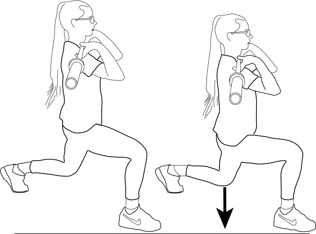 Illustration of the Split Squats exercise