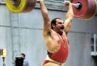 Heavy barbell lifted 260Kg in clean and jerk