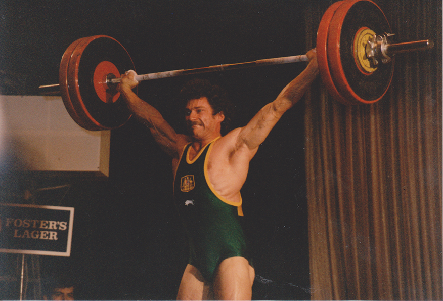 Leo Isaac, Weightlifting, Snatch 130Kg at 1986 Commonwealth Games Trials, Sydney.