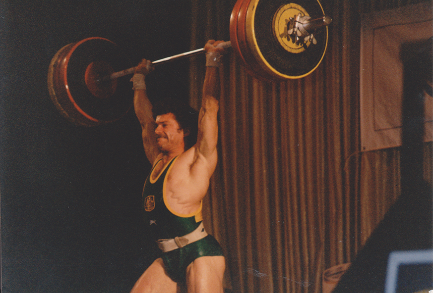 Leo Isaac, Weightlifting, Clean and Jerk 165Kg at 1986 Commonwealth Games Trials, Sydney.