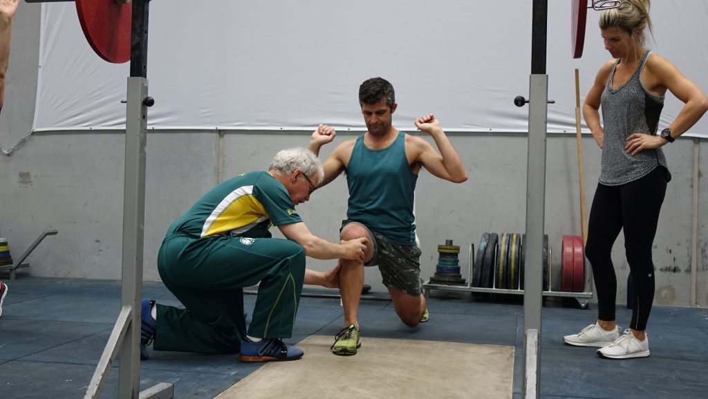 Leo Isaac at work during a coaching Olympic Weightlifting.