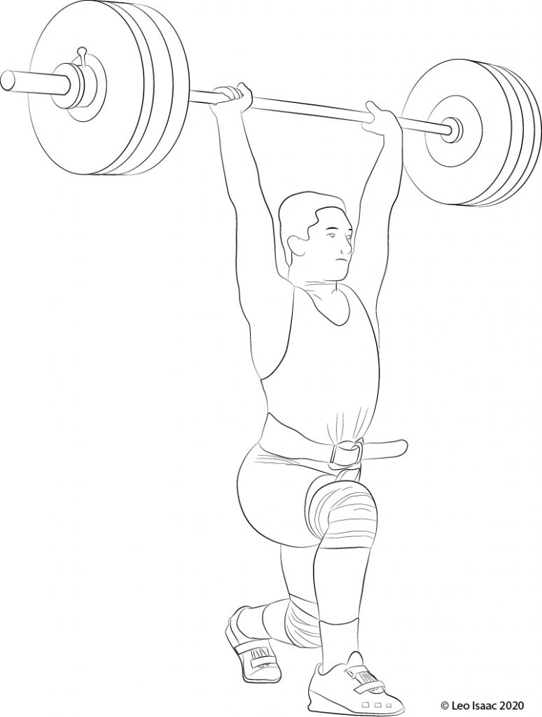 Illustration of a low receiving position for the Jerk