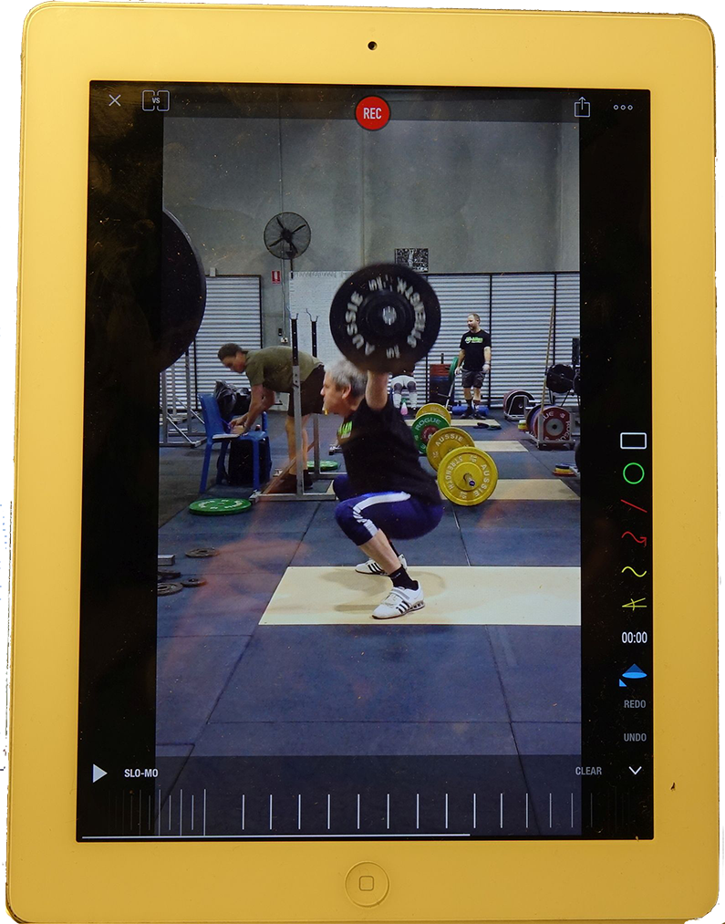 Image of an iPad with Coach's Eye app in use.